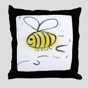 Bee Zoom Throw Pillow