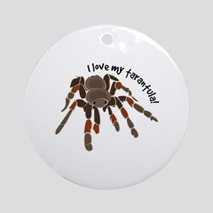 Love My Tarantula Ornament (Round)