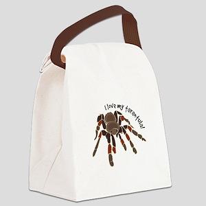 Love My Tarantula Canvas Lunch Bag
