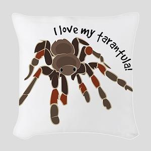 Love My Tarantula Woven Throw Pillow