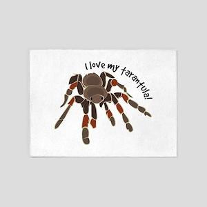 Love My Tarantula 5'x7'Area Rug