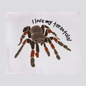 Love My Tarantula Throw Blanket