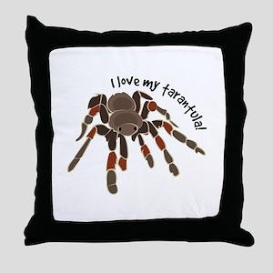 Love My Tarantula Throw Pillow