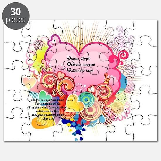 Joy - 1 John 3 23 Puzzle
