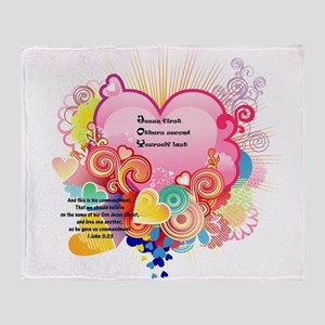Joy - 1 John 3 23 Throw Blanket