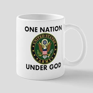 One Nation Under God Army Mugs
