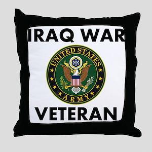 Iraq War Veteran Throw Pillow