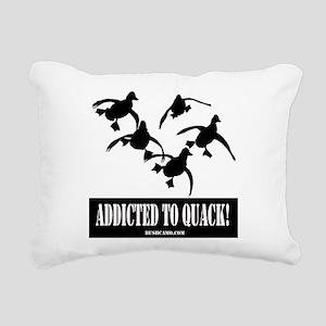 Addicted To Quack Rectangular Canvas Pillow