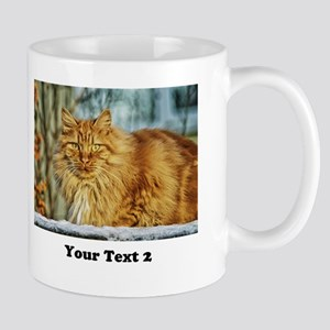 Customize 2 Photos And Text Mugs