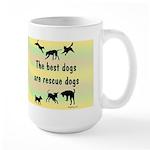 I Love Rescue Mutts Large Mug