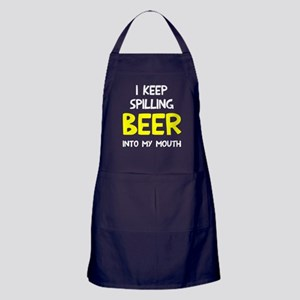 Spill Beer Into Mouth Apron (dark)