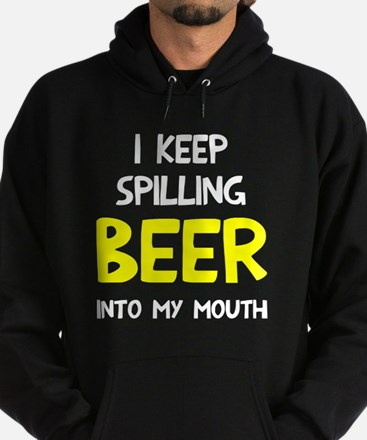 Spill Beer Into Mouth Hoodie (dark)
