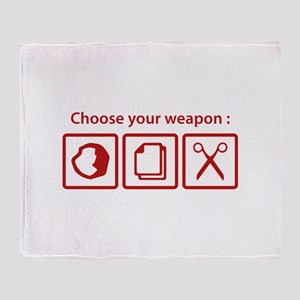 Choose Your Weapon Stadium Blanket
