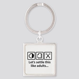 Let's Settle This Like Adults... Square Keychain