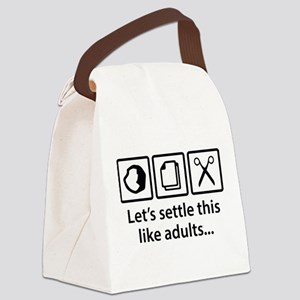 Let's Settle This Like Adults... Canvas Lunch Bag