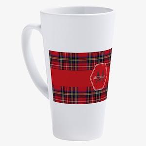 Royal Stewart Tartan Pattern 17 oz Latte Mug