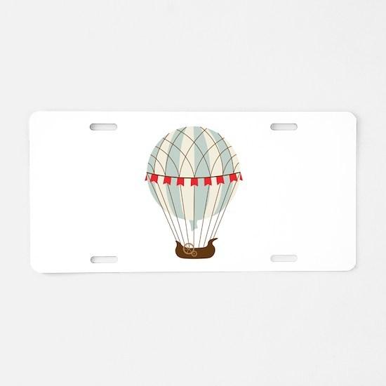 Hot Air Balloon Aluminum License Plate