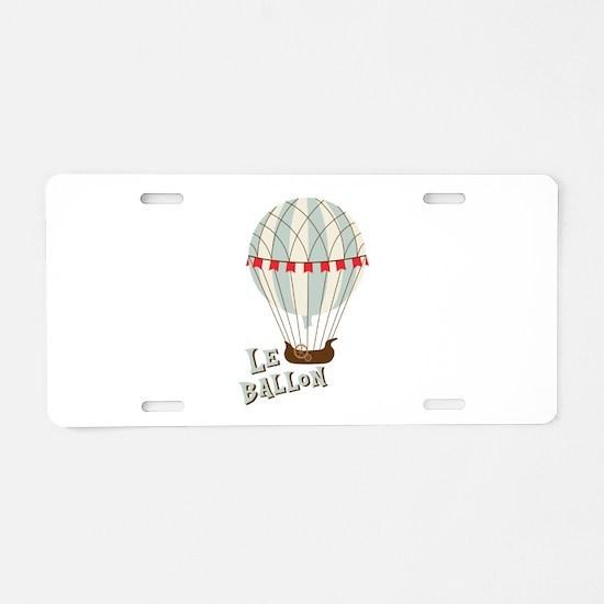 Le Ballom Aluminum License Plate