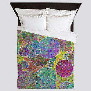 Bubbles mosaic Queen Duvet