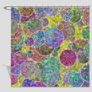 Bubbles mosaic Shower Curtain