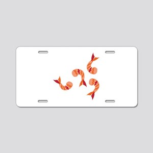 Shrimp Dinner Aluminum License Plate