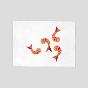 Shrimp Dinner 5'x7'Area Rug