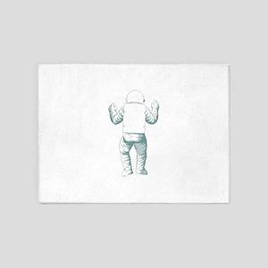 Astronaut Space Suit 5'x7'Area Rug