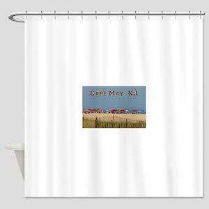 Cape May, NJ Beach Scene Shower Curtain