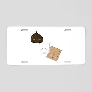 Smores Snack Aluminum License Plate