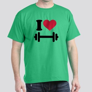 I love barbell dumbbell Dark T-Shirt