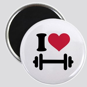 I love barbell dumbbell Magnet
