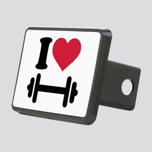 I love barbell dumbbell Rectangular Hitch Cover