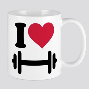 I love barbell dumbbell Mug
