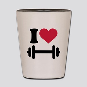 I love barbell dumbbell Shot Glass