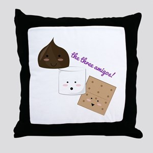 The Three Amigos! Throw Pillow