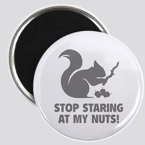 Stop Staring At My Nuts! Magnet