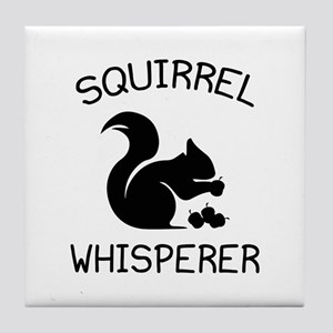 Squirrel Whisperer Tile Coaster