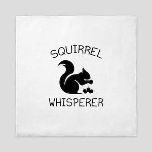 Squirrel Whisperer Queen Duvet