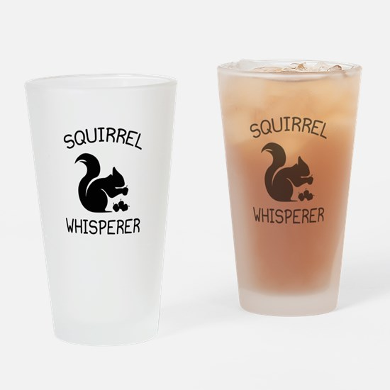 Squirrel Whisperer Drinking Glass