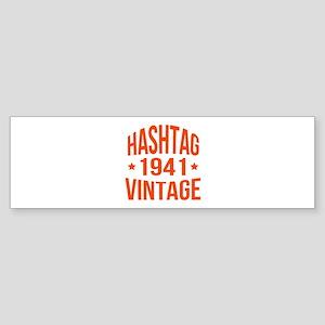 Hashtag Vintage 1941 Sticker (Bumper)