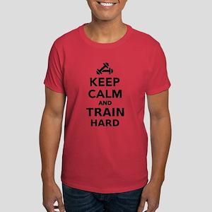 Keep calm and train hard Dark T-Shirt