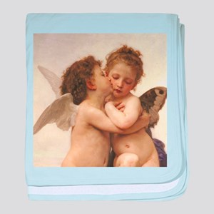 Exquisite First Kiss Angels baby blanket