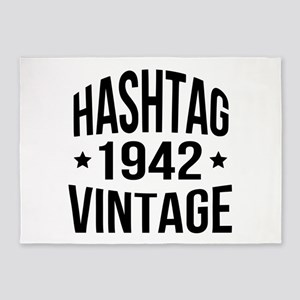 Hashtag 1942 Vintage 5'x7'Area Rug