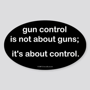 Gun Control Oval Sticker