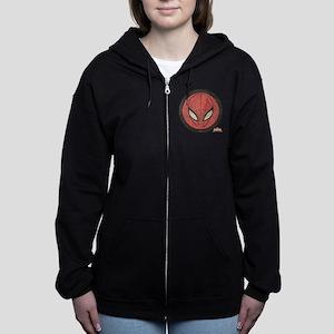 Spider-Girl Icon Vintage Women's Zip Hoodie