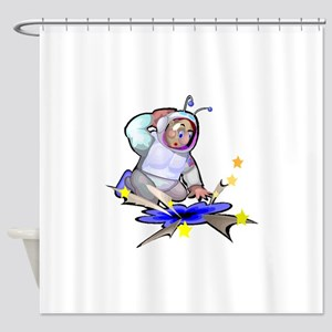 Astronaut And Black Hole Shower Curtain