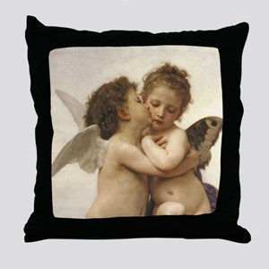 Exquisite First Kiss Angels Throw Pillow