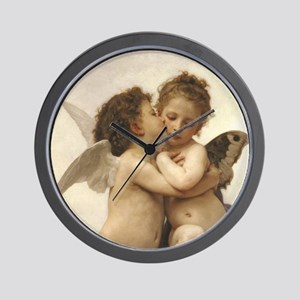 Exquisite First Kiss Angels Wall Clock