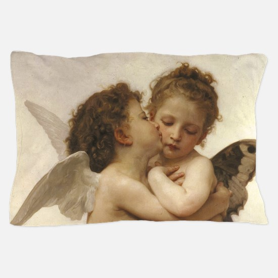 Exquisite First Kiss Angels Pillow Case