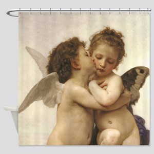 Exquisite First Kiss Angels Shower Curtain